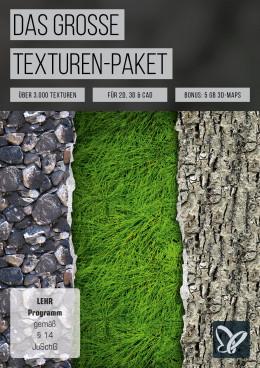 Das große Texturenpaket: 3.000 Texturen für Photoshop & Co