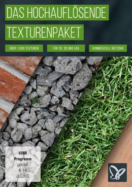 Hochauflösende Texturen: Holz, Rasen, Stein, Sand & Co