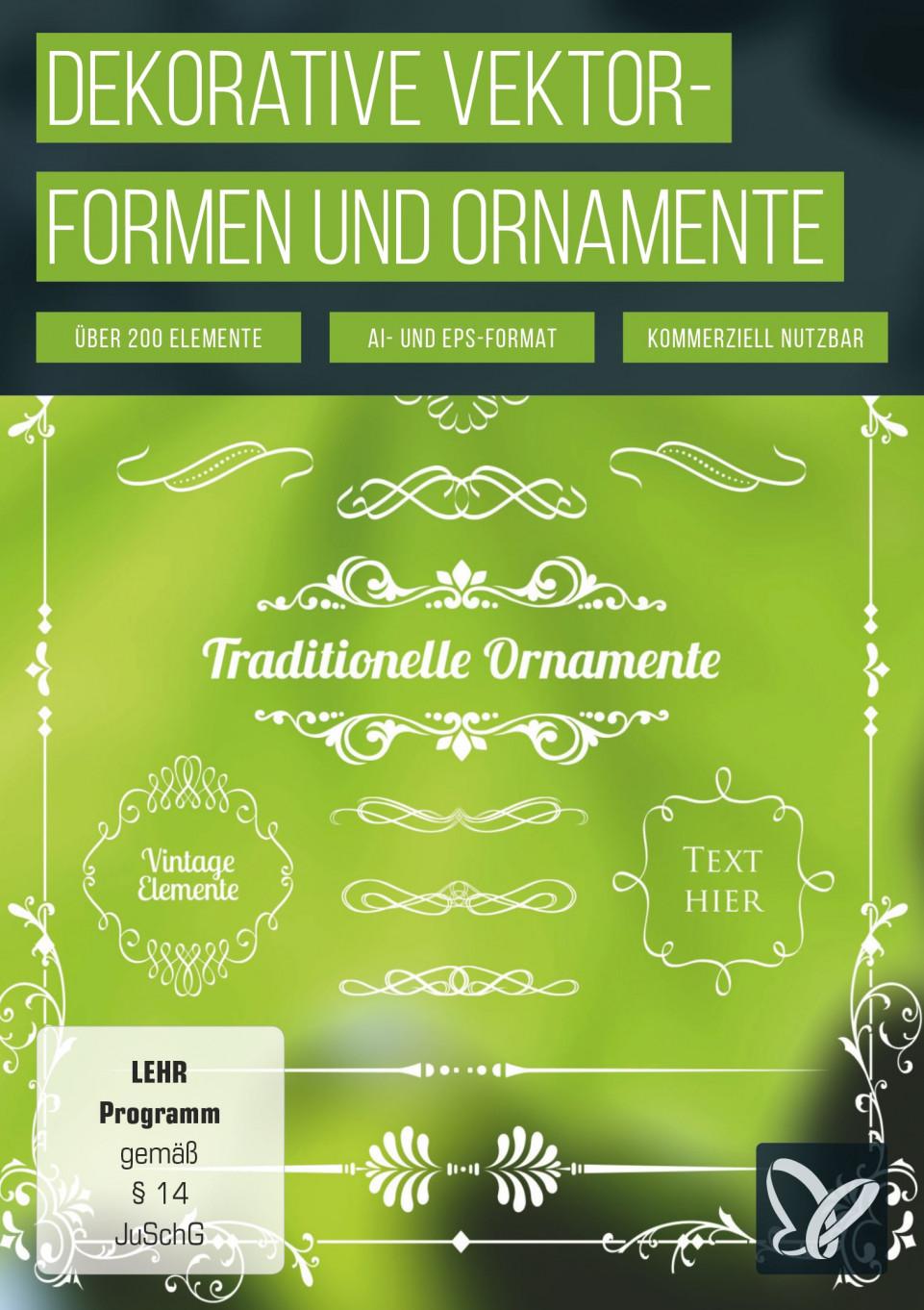 Dekorative Vektorformen und Ornamente
