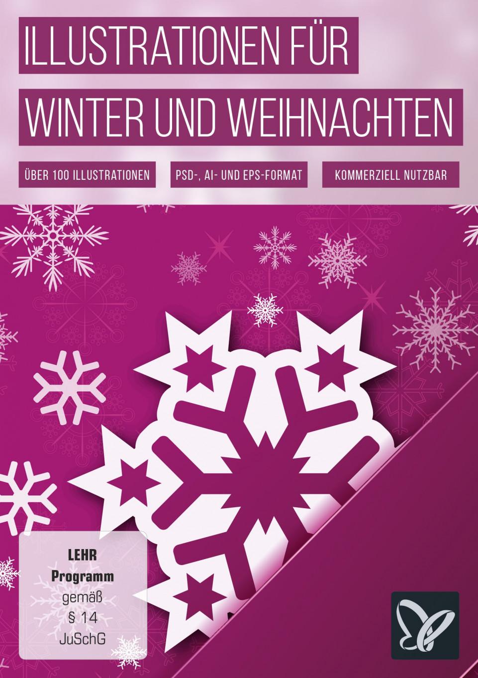 Wintermotive und Illustrationen für Weihnachten