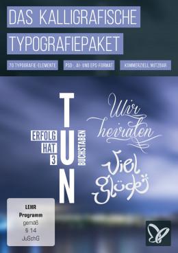 Kalligrafische Schriftvorlagen – das große Typografiepaket