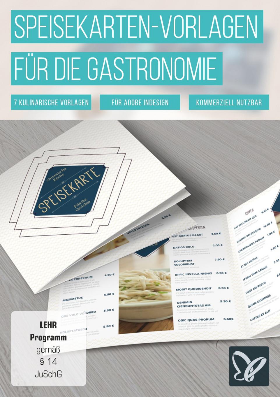 Speisekarten-Vorlagen für Designer und Gastronomen