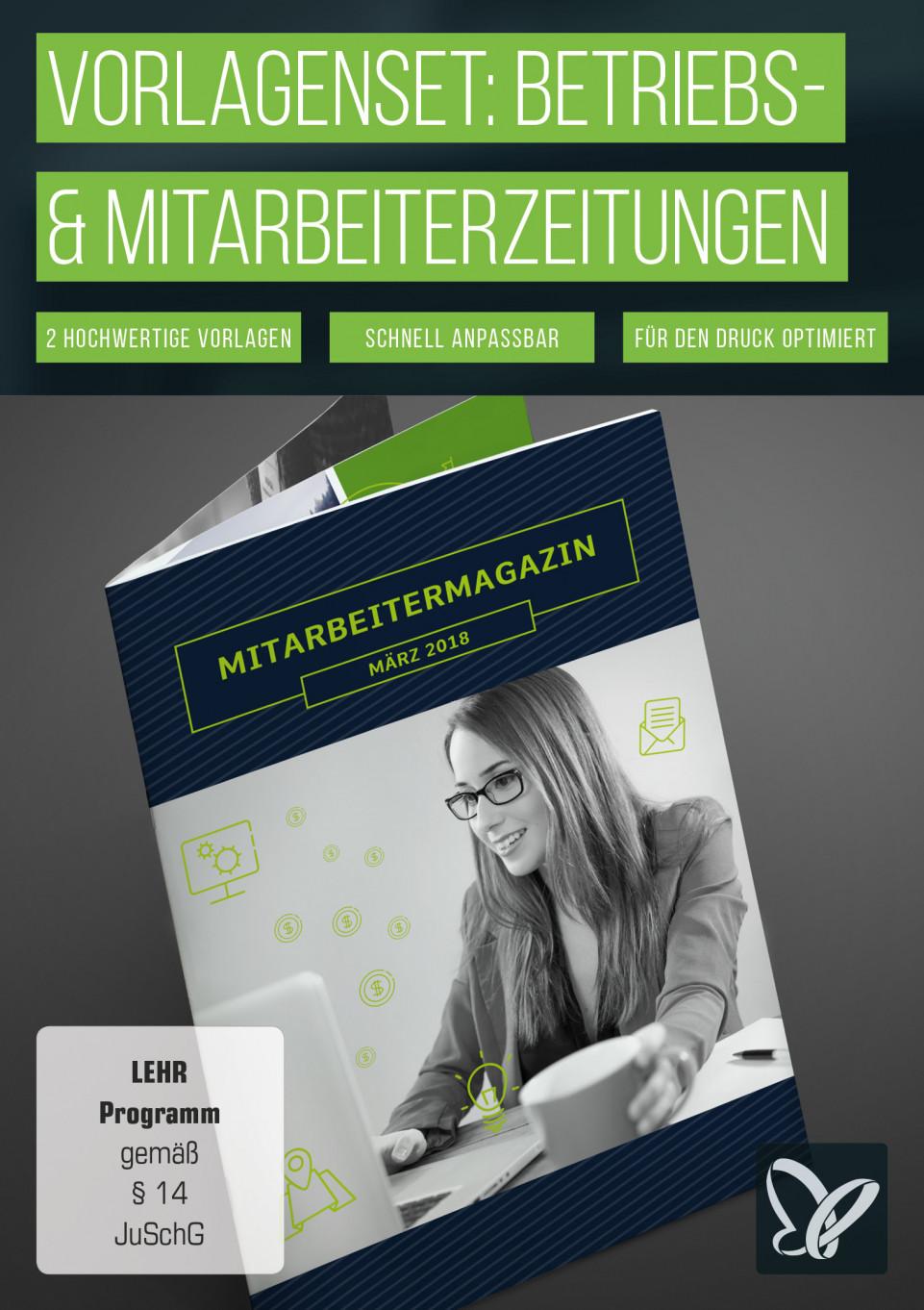Layout-Vorlagen: Mitarbeiterzeitung, Betriebszeitung, Firmenzeitung