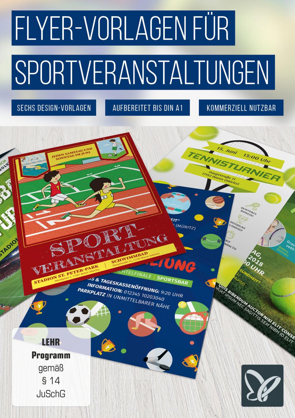 Vorlagen für Sportveranstaltungen: Flyer und Plakate
