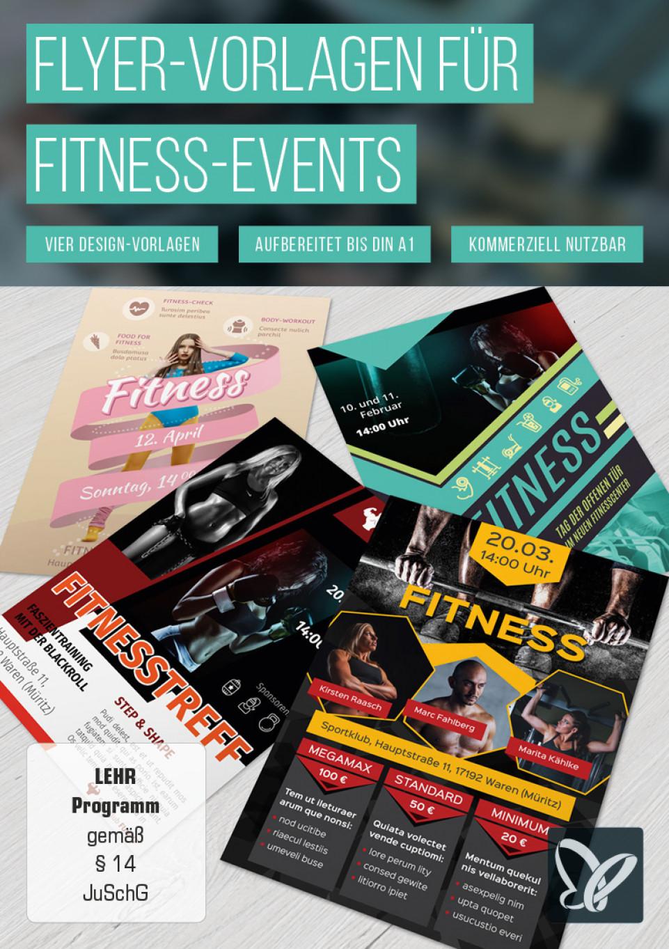 Flyer-Vorlagen für Fitnessstudios und Fitness-Events