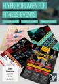 Flyer-Vorlagen für Fitness, Sport und Fitnessstudios