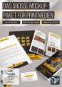 Photoshop-Mockups für Flyer, Poster, Visitenkarte, Buch & Co – Volume 1