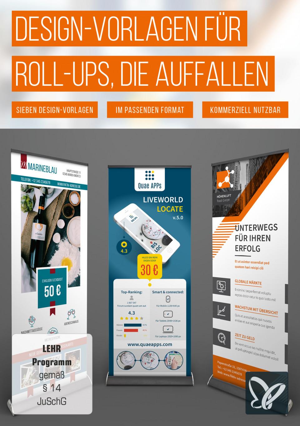 Roll-up Design-Vorlagen: Überragendes erstellen