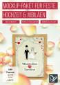 Mockup-Designs für Hochzeit, Jubiläen und Feste zum Download