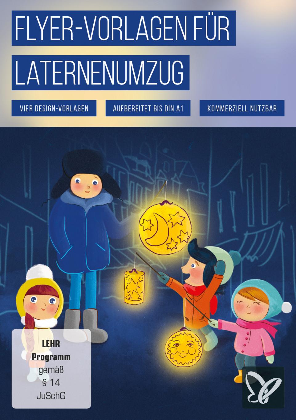 Flyer-Vorlagen für Martinstag und Laternenumzug