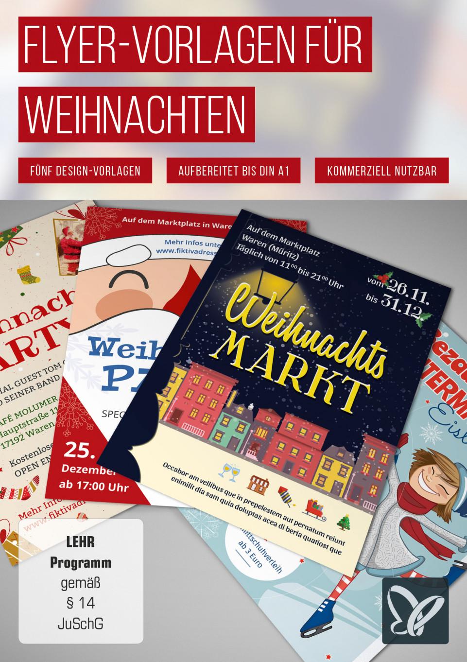 Flyer-Vorlagen für Weihnachten