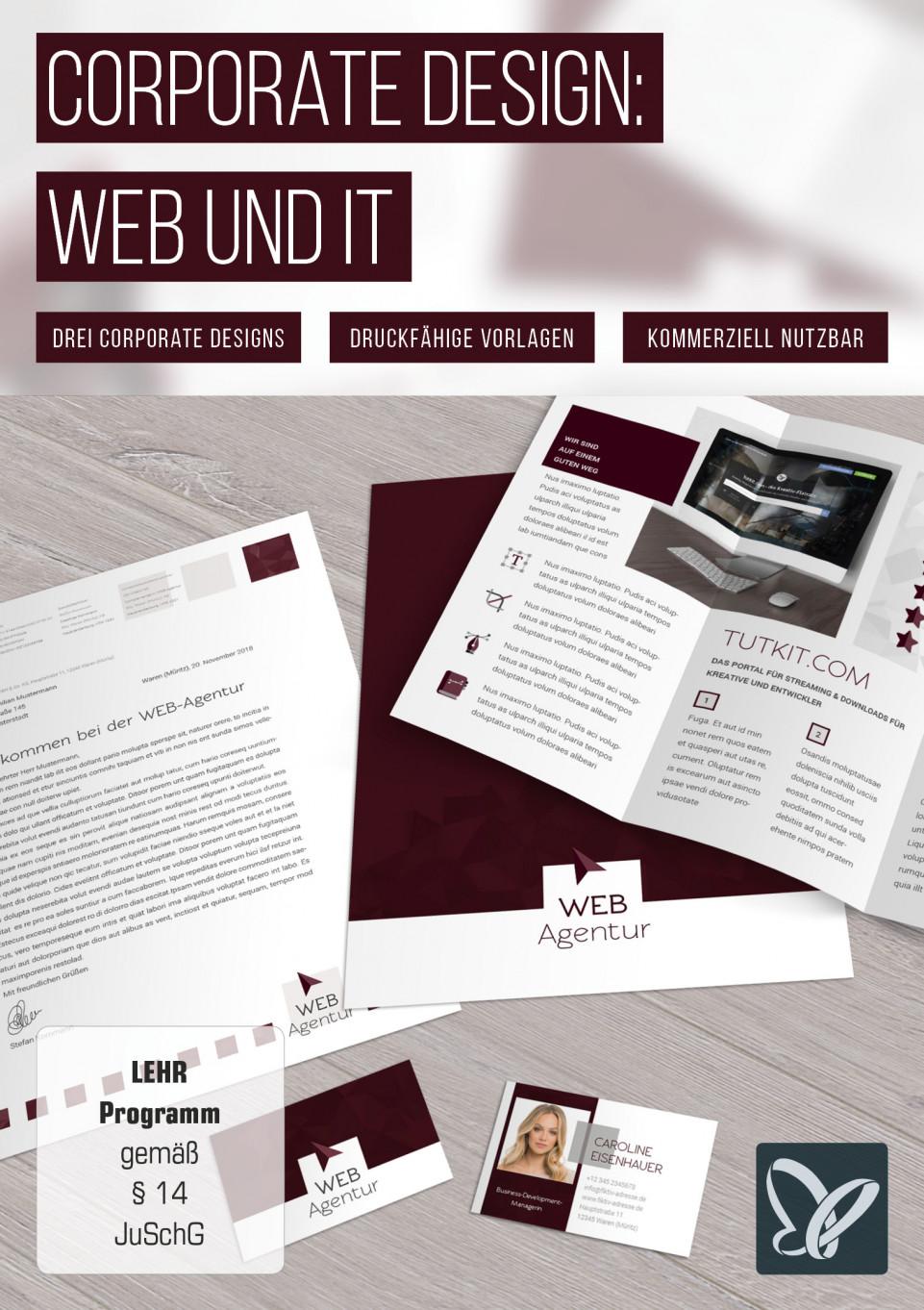 Corporate Design-Vorlagen – die Geschäftsausstattung für Web und IT