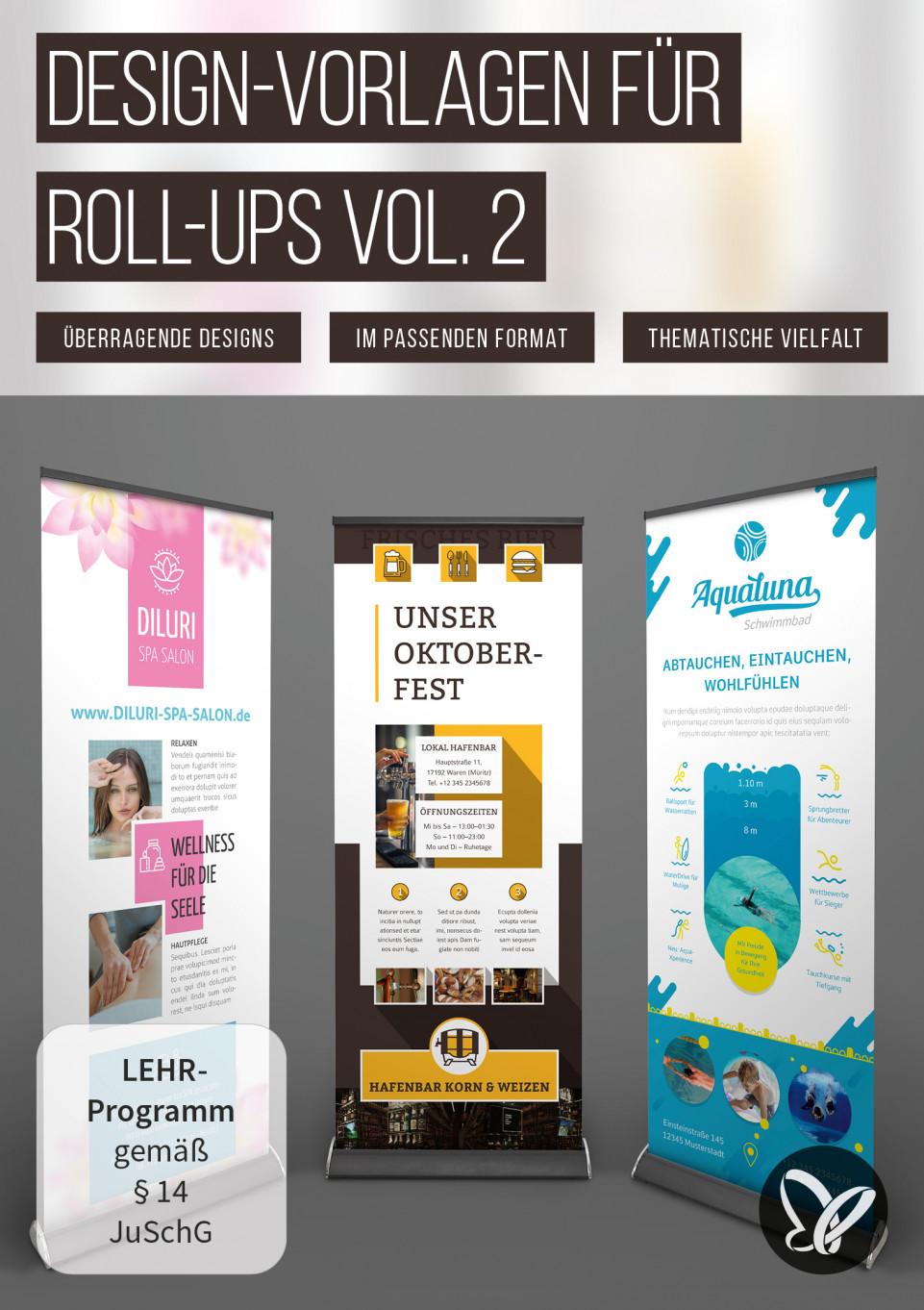 Design-Vorlagen für Roll-ups, die auffallen Vol. 2