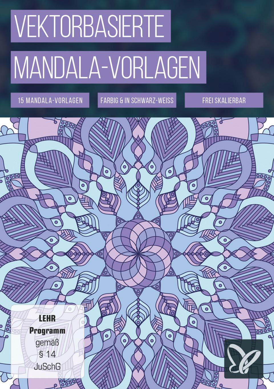 Faszinierende Formen: vektorbasierte Mandala-Vorlagen