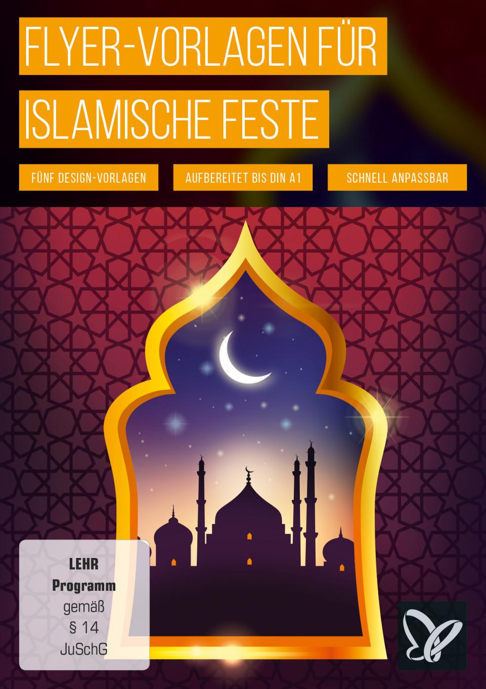 Flyer-Vorlagen für islamische Veranstaltungen