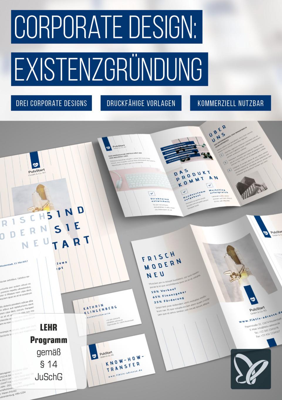 Corporate Design-Paket: Ausstattung und Marketing für Startups & Existenzgründer