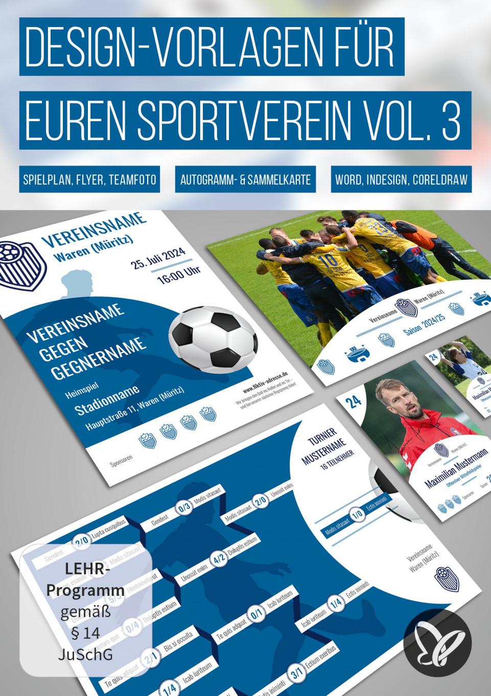 Design-Vorlagen für euren Sportverein – Komplettausstattung Vol. 3