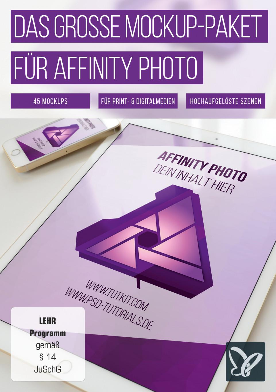 Das große Mockup-Paket für Affinity Photo