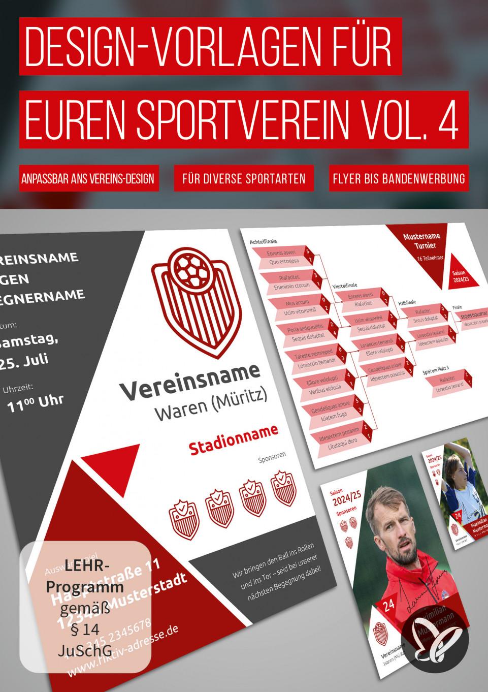 Design-Vorlagen für euren Sportverein – Komplettausstattung Vol. 4
