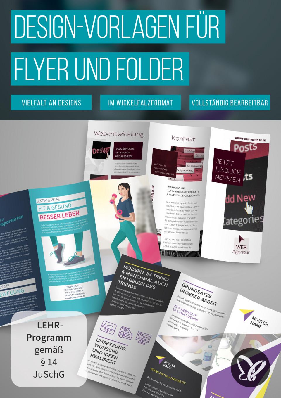 Flyer und Folder gestalten: fertige Design-Vorlagen