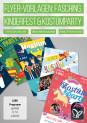 Plakate und Flyer zur Einladung zu Kinderfest, Kinderfasching und Kostümparty
