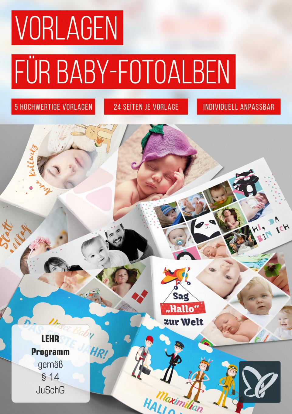 Vorlagen für Baby-Fotoalben: Mein erstes Jahr