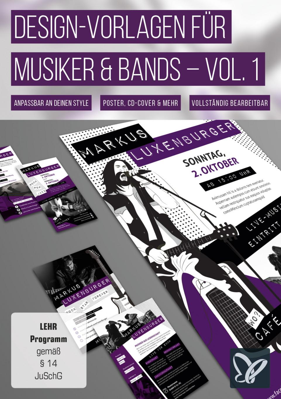 Design Vorlagen – CD Cover, Konzertplakate, Künstlerkarten