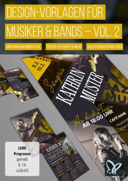 Design-Vorlagen für Musiker & Bands – Vol. 2