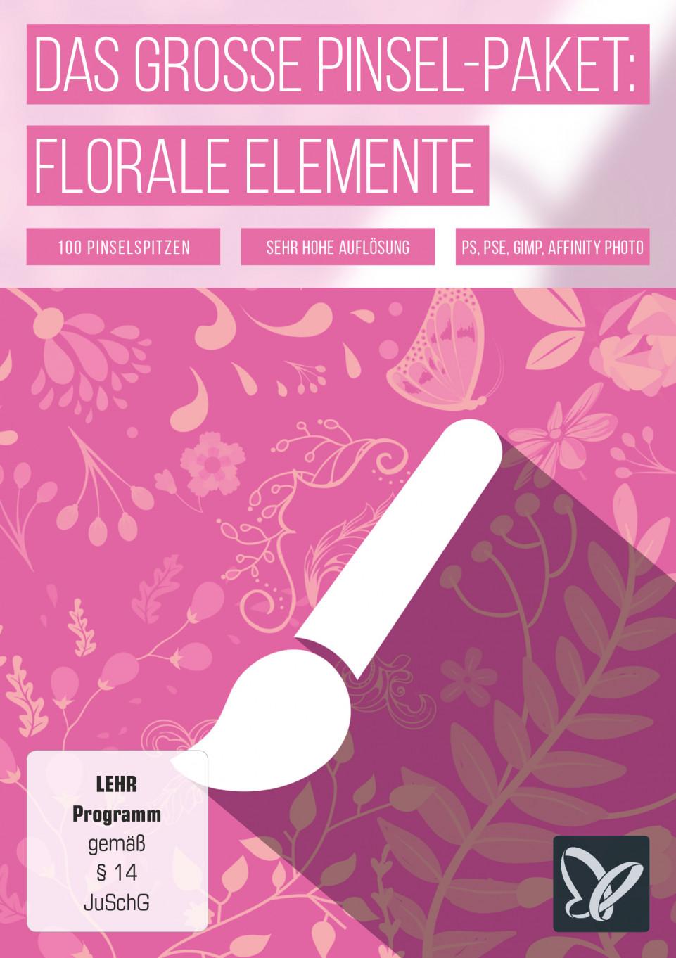Das große Pinsel-Paket – florale Elemente