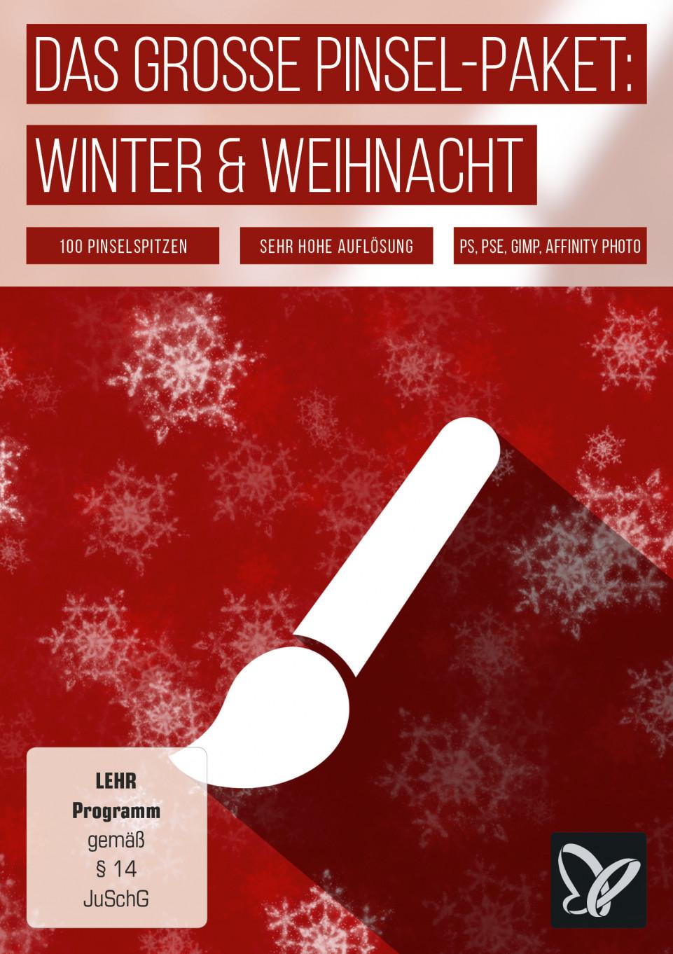 Pinsel-Set Winter, Weihnachten & Silvester: Assets für Photoshop & Co