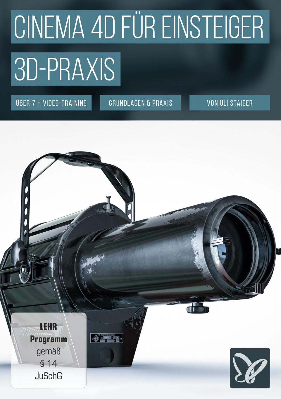 Cinema 4D-Tutorial: Grundlagen & 3D-Praxis für Einsteiger