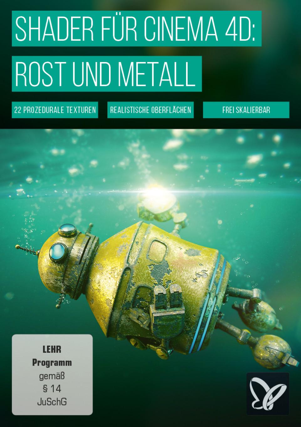 Material für Cinema 4D: Rost- und Metall-Shader
