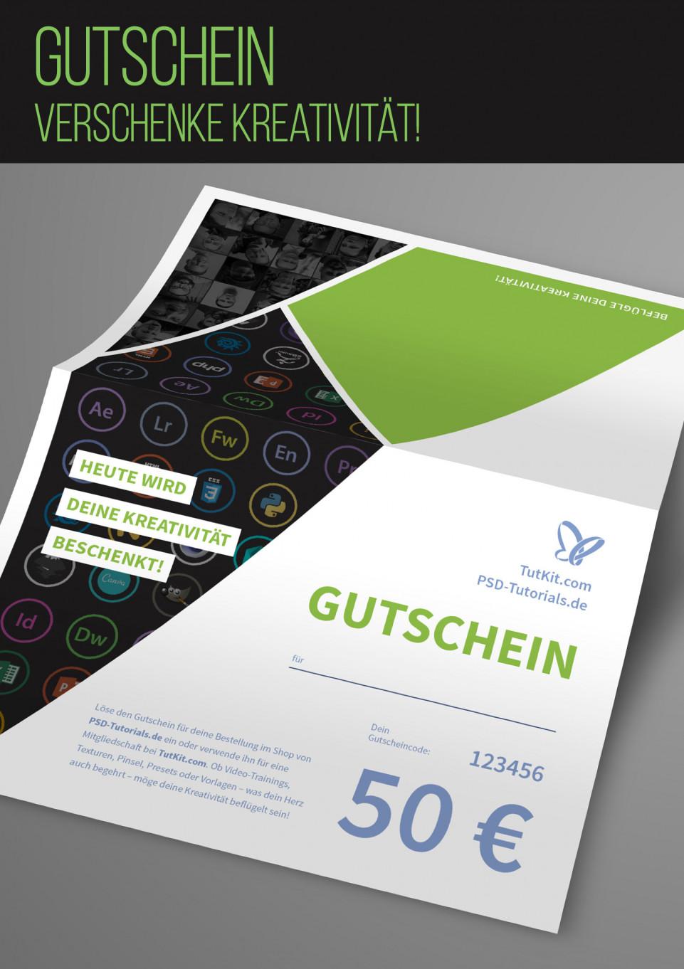 Gutschein – verschenke Kreativität! - PSD-Tutorials.de Shop