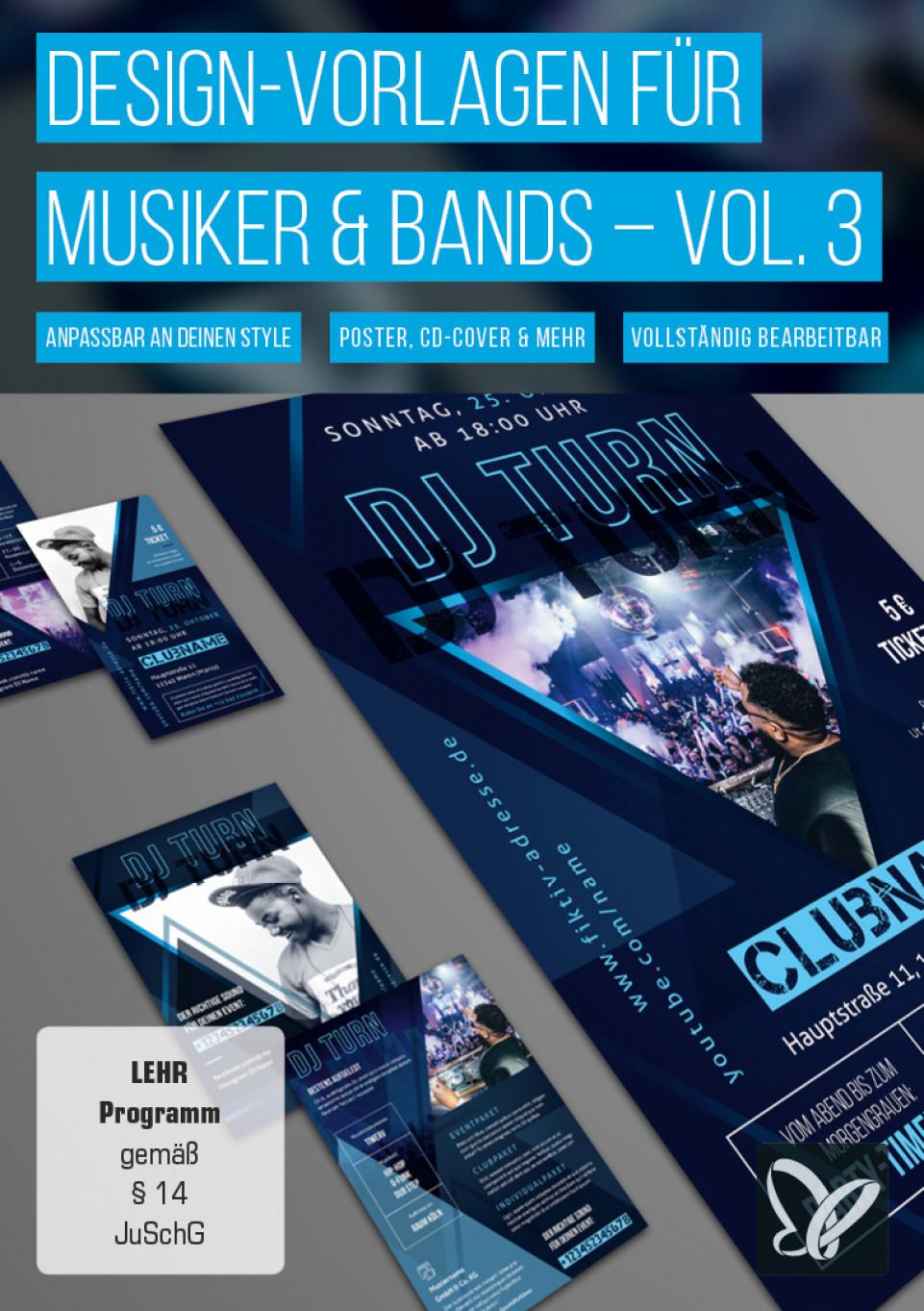 Design-Vorlagen für Musiker & Bands – Vol. 3