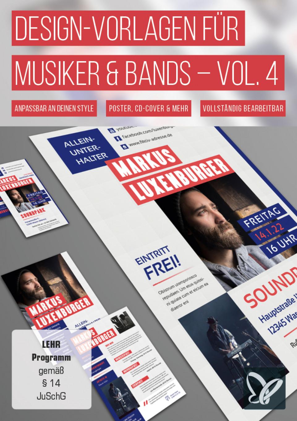 Design-Vorlagen für Musiker & Bands – Vol. 4