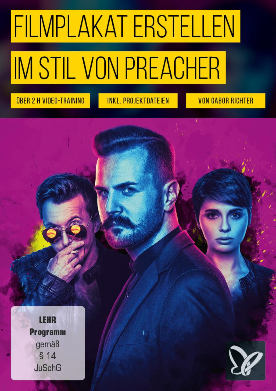 Filmplakat erstellen im Stil von Preacher – Fotoshooting & Photoshop-Tutorial