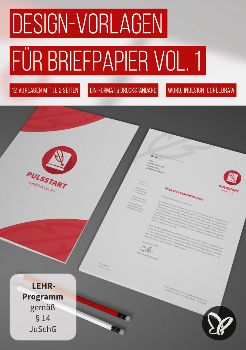 Briefpapier-Vorlagen zum Ausdrucken