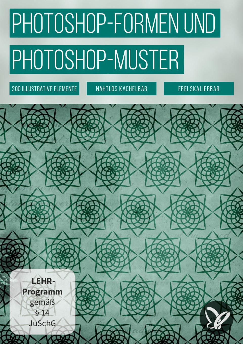 Photoshop-Muster und -Formen: Vintage-Ornamente