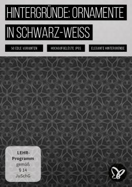 Schwarz-Weiß-Hintergrund: 50 edle Ornamente