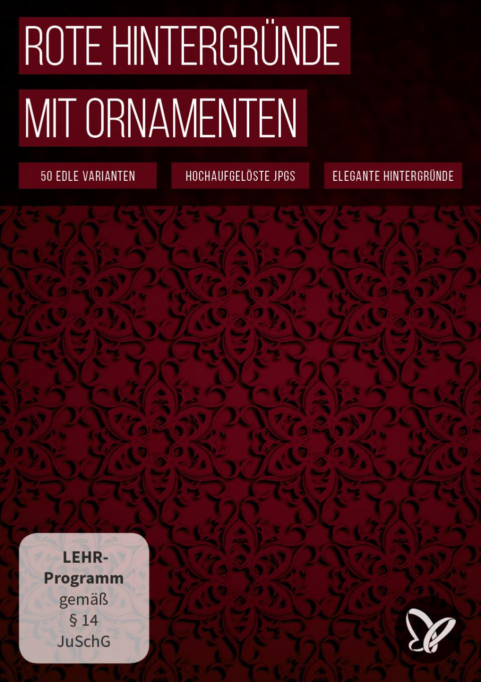Roter Hintergrund: Digitales Papier zum Download