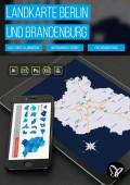 Landkarte Brandenburg mit Landkreisen und Berlin