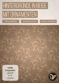 Hintergrund in Beige: filigrane Ornamente zum Download