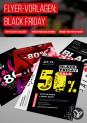 Vorlagen im Black Friday-Design: Plakate und Flyer zur Werbung