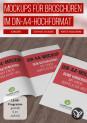 Mockups für Broschüren im A4-Hochformat