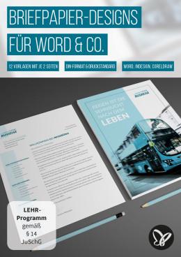 Briefpapier-Designs für Word, InDesign und CorelDRAW