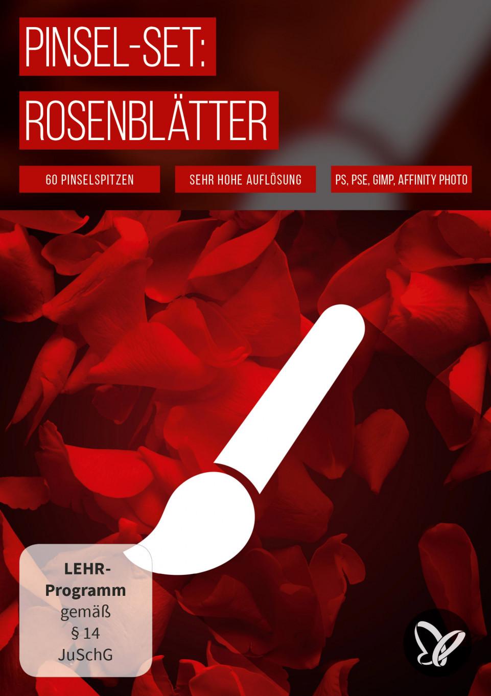 Pinselspitzen mit Rosenblättern für Photoshop und Co.