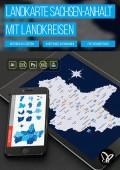 Landkarte Sachsen-Anhalt mit Landkreisen