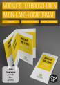 Mockups für Broschüren im DIN-lang-Format