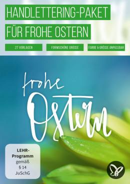 Frühlingsfrische Handlettering-Vorlagen für frohe Ostern
