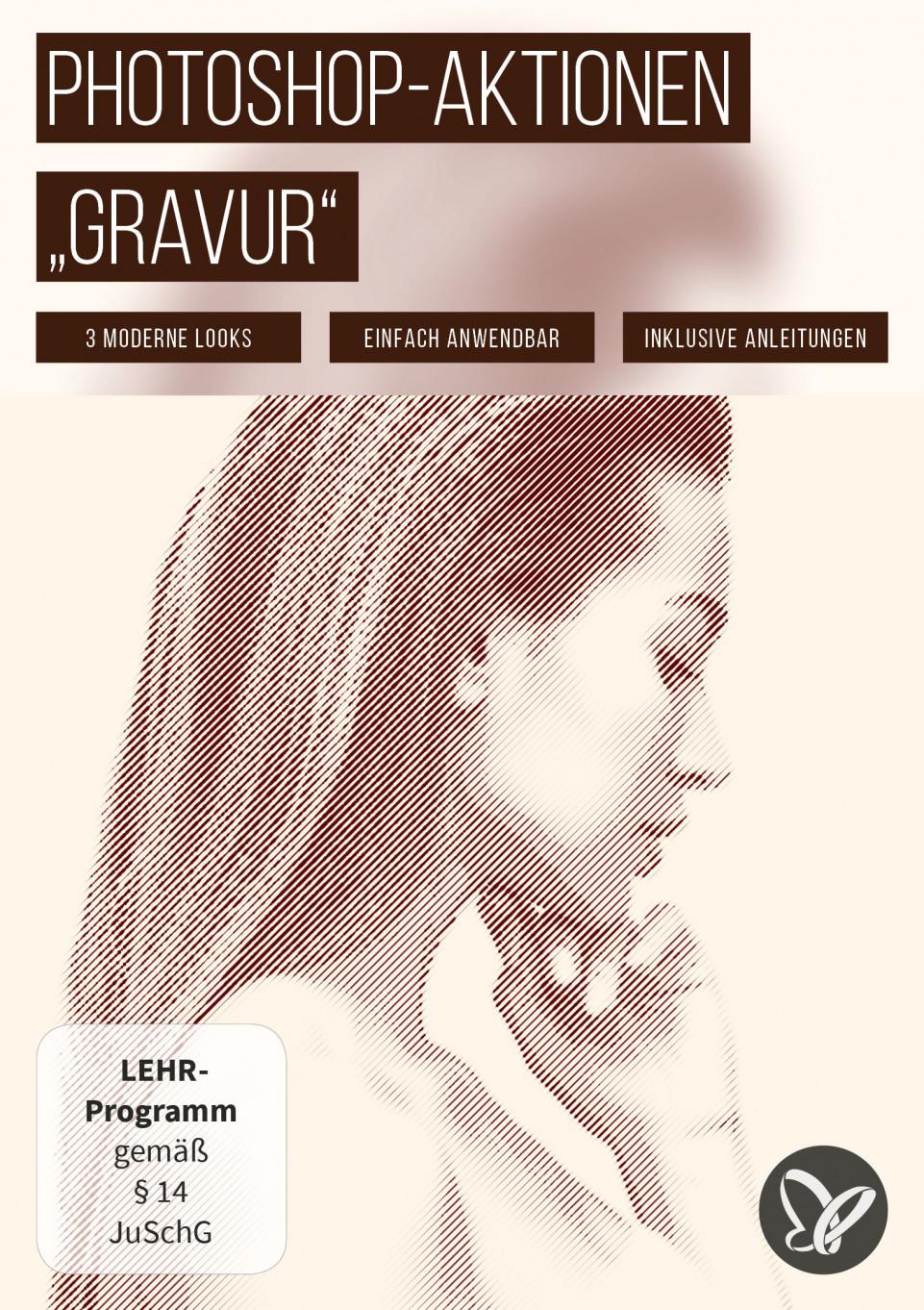 """Photoshop-Aktionen """"Gravur"""": Drei moderne Linien-Looks für deine Fotos"""